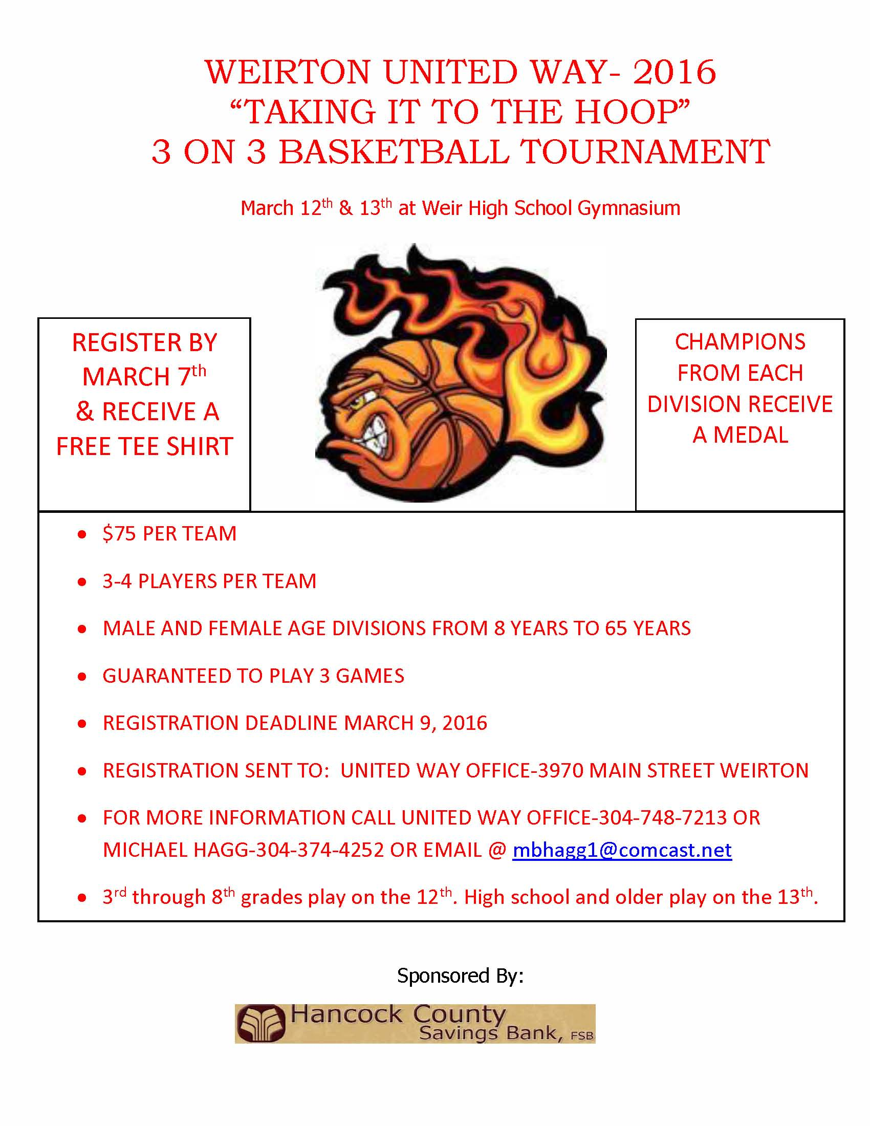 3 on 3 flyer 2016