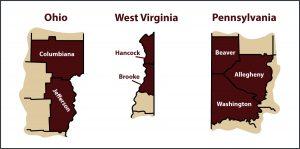 Service Areas - Ohio, West Virginia, Pennsylvania