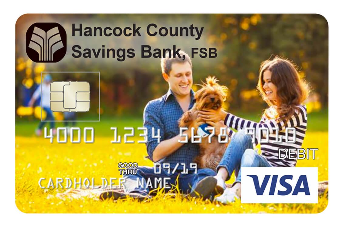 Hancock Debit Sample Card Winter