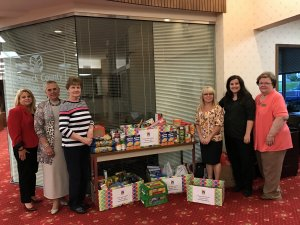 Employees collect food for Salvation Army