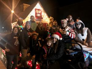 Hancock County Savings Bank employees and their families at Weirton Christmas Parade.