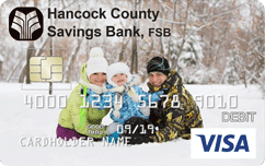 Hancock Debit Sample Card Winter