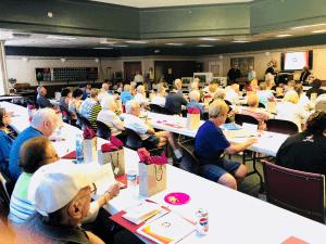Hancock County Savings Bank Employees presenting a seminar for the Weirton Senior Center Members.