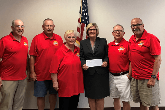 Hancock County Savings Bank donates to the Weirton Steel 25 Year Club