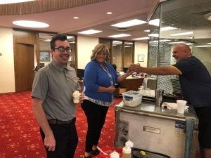 HCSB employees enjoying some ice cream!