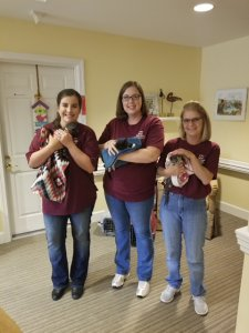 HCSB Employees Volunteering at Nursing Home