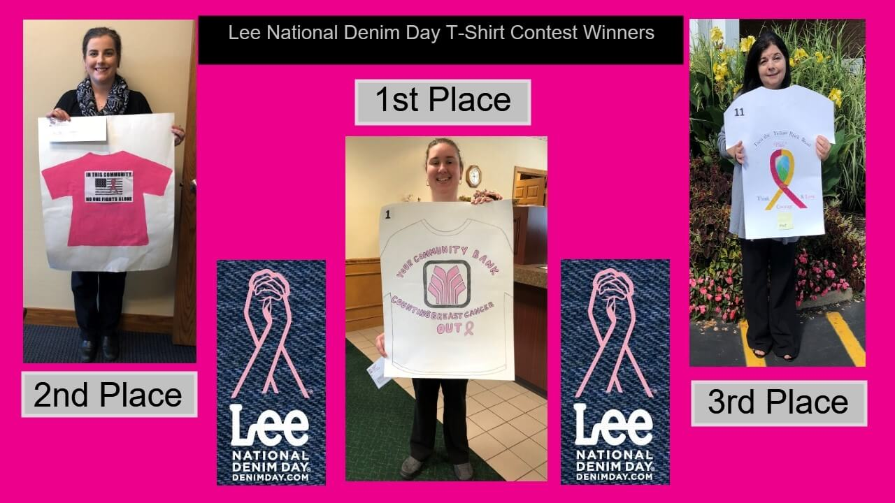 Lee National Denim Day T-Shirt Contest Winners