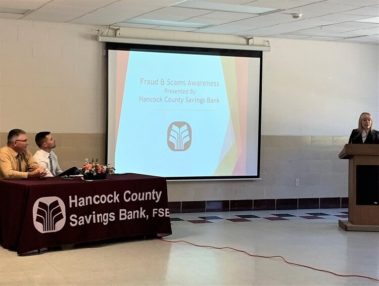 Community Outreach Program presents to Hancock County Senior Center