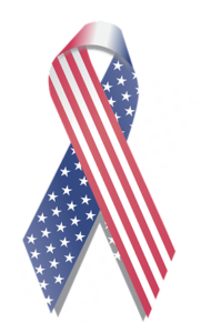 flag decorated ribbon