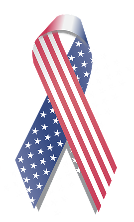 flag decorated ribbon