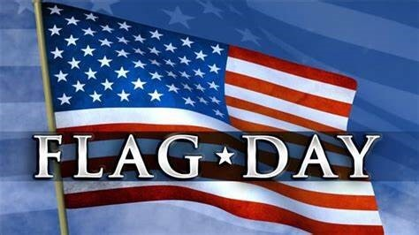 united states flag with the words Flag Day accross it