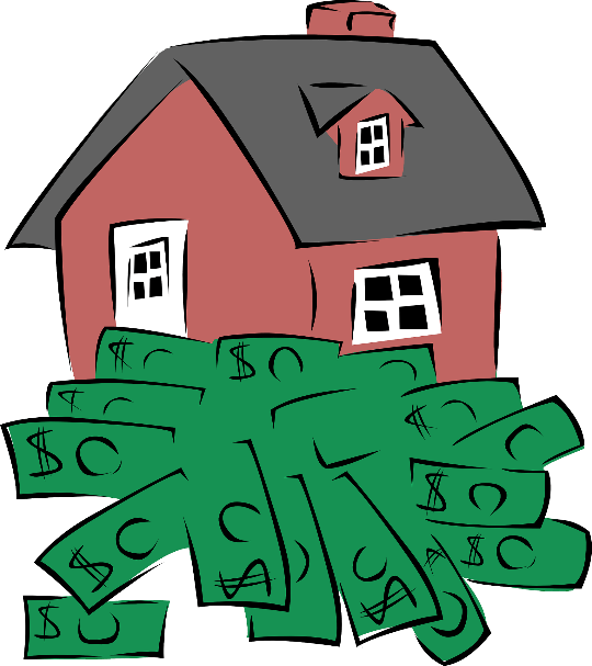 house with money under it