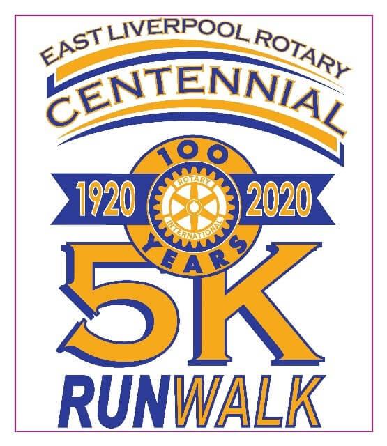 East Liverpool Rotary Centennial 5k run/walk poster